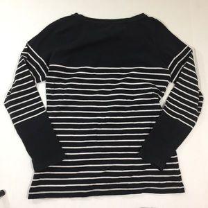 Nautica Tops - Women's Nautica Striped Spell Out Shirt LS M